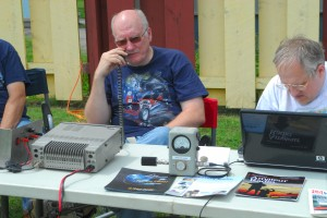 Lars KB3WBT and Ed KB3VWX put the Special Event station on the air