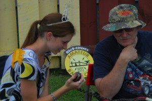 Clearfield County Fair Queen Melanie Swartz makes a DX contact