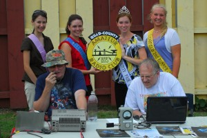 Clearfield County Fair Queen Melanie Swartz and her Court visit our Special Event station