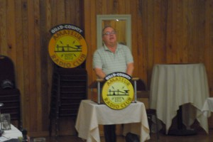ARRL WPA Section Manager John Rodgers N3MSE updates us on League matters at the Spring Banquet