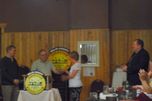 Janet Lovesky KB3ABK was the lucky main prize winner at the Spring Banquet