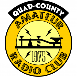 Based on K3TFL's 1984 design, our re-engineered Quad-County Club Logo