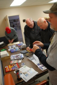 Don KB3LES, Lars KB3WBT, Jesse KG4ZXC and Kevin W3PIG prepare displays and handouts.