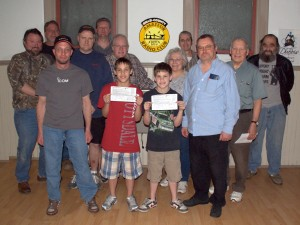 Recently Licensed Radio Amateurs (l-r) James Withers KB3YJF, Ian Gerard KB3YJM, Joel Best N3UOA, Wayne Kocher KB3YJE, Jay Lorance KB3YJL, Bob Thunberg N3DIR, Nick Lorance KB3YJJ, Devon Lorance KB3YJK, Bev Hudsick KB3YJI, Jim WickerKB3YJG, Greg Donahue KB3WKD, Larry Whitten KB3YJH, Ed Stewart KB3WRX