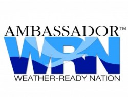 """Weather-Ready Nation Ambassador™ and the Weather-Ready Nation Ambassador™ logo are trademarks of the U.S. Department of Commerce, National Oceanic and Atmospheric Administration, used with permission."""