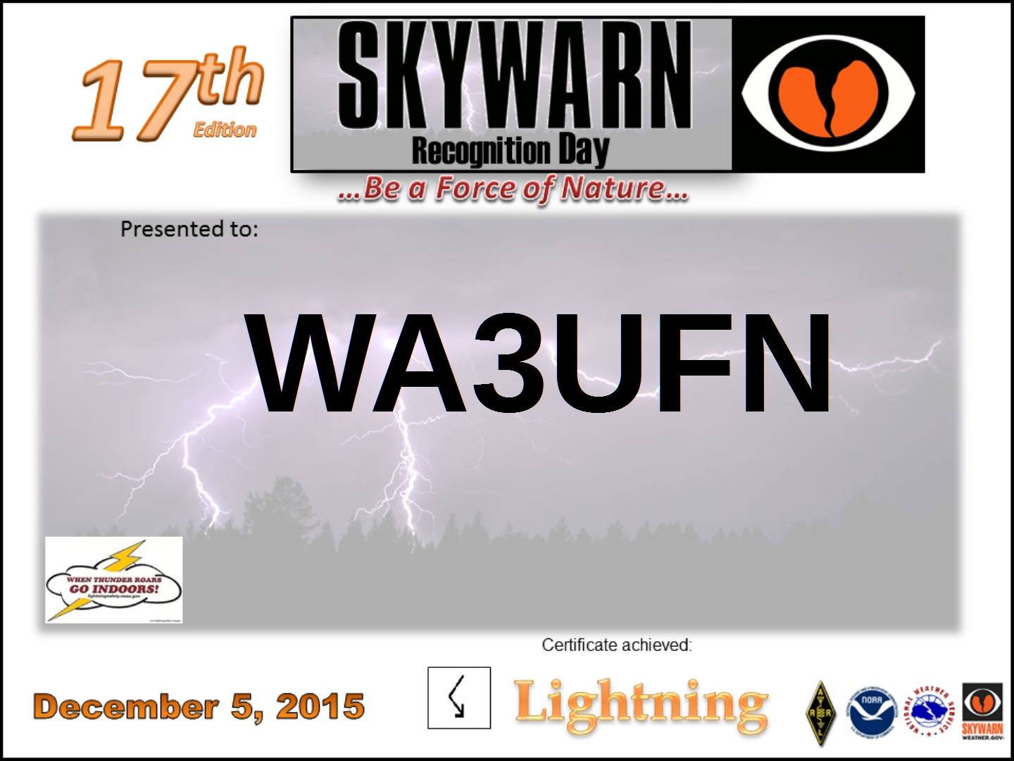 UFN SkyWarn Cert